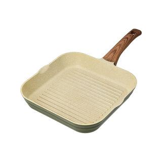 Cast Alu. Ceramic Grill Pan 28Cm Olive Marble