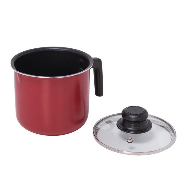 وعاء لغلي الحليب لون أحمر image number 1
