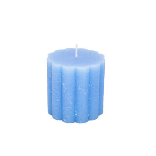 Pillar Candle Rustic, Ridge Aqua Breezy Beach