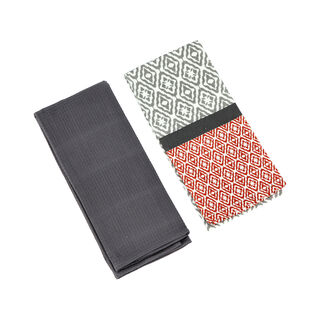 Alberto 2 Pieces Kitchen Towel Set L: 60 * W: 40Cm Grey Design