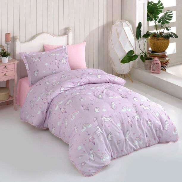 4 Pcs Comforter set Unicorn Twin Size image number 0
