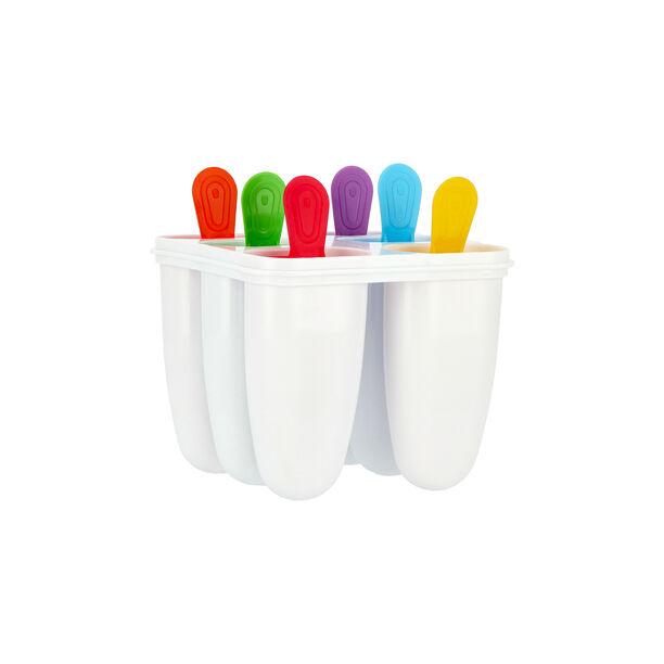 طقم قوالب بلاستيك لصنع الايس كريم 4 قطع متعددة الالوان من البرتو  image number 1