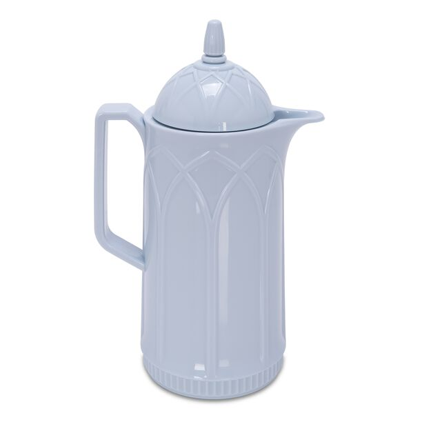 Dallety Plastic Vacuum Flask Traditional Classic Blue 1L image number 0