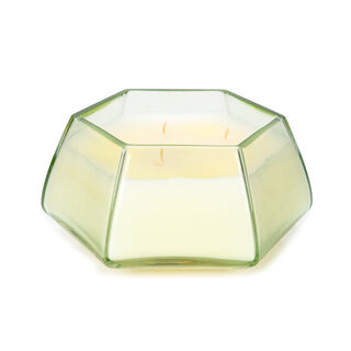 Glass Candle Oud Oasis White