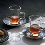 La Mesa Arabic Tea 12 Pieces Set Grey Marble And Silver image number 4