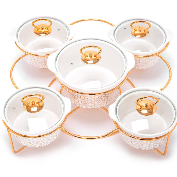 5 Pcs Round Food Warmer With Stand image number 3