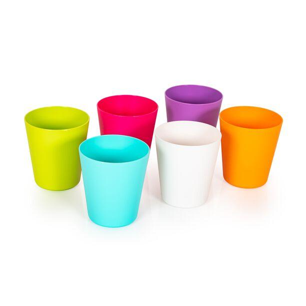 طقم كاسات بلاستيكية متعددة الالوان من البرتو  image number 0