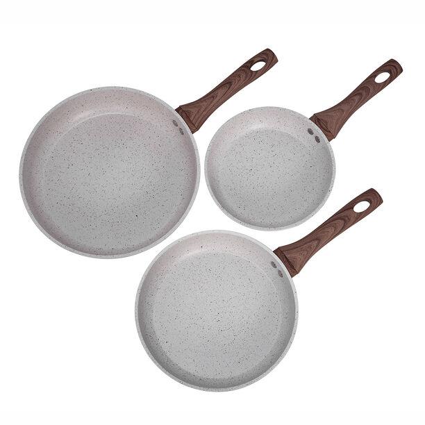 Alberto Forged Aluminum Frypan Set 3 Pieces Cream image number 2