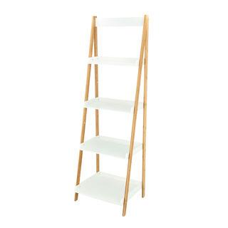 4 Tiers Bamboo Mdf Shelf White