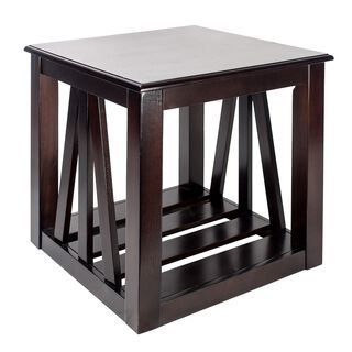 Side Table Dark Walnut Finish