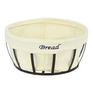 Alberto Metal Round Bread Basket Coffee Color