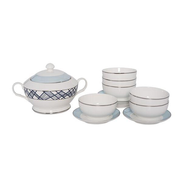 La Mesa 14 Pieces Porcelain Soup Tureen image number 0
