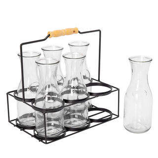 Alberto Drinking Glass Set 7 Pieces With Stand