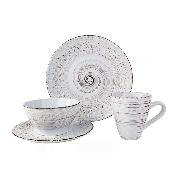 Dinner Set 16 Pieces White  image number 0
