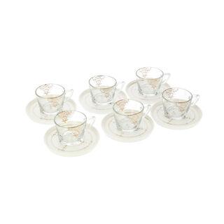 طقم أكواب شاي زجاج 12 قطعة