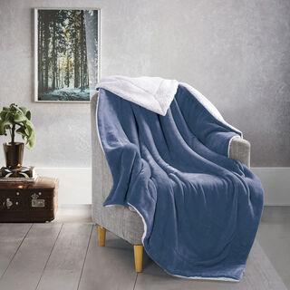 بطانية شتوية لون أزرق
