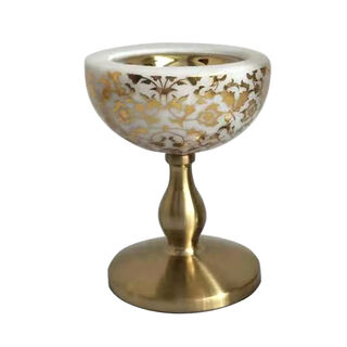 Marble and Metal Oud Burner Majestic Gold