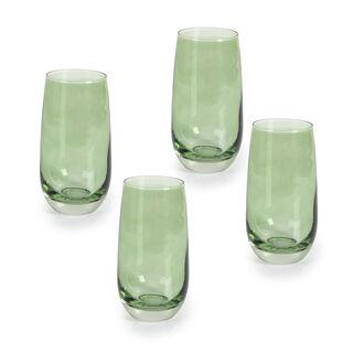 Rio Green 4 Pieces Set High Ball Glass