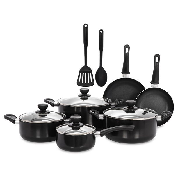 Alberto Non Stick Cookware Set 12 Pieces Black image number 0