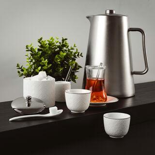 28Pc Tea And Coffee Set Samarkand Porcelain White
