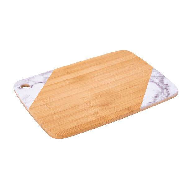 Bamboo Cutting Board Marble Surface Rectangle  image number 0
