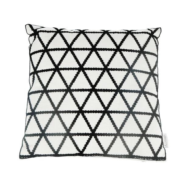 Embroidery Cushion Santorini Triangle image number 1