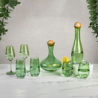 Rio Green 4 Pieces Set Dof Glass
