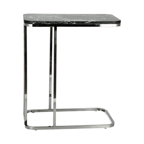 Side Table Silver Leg Black Top image number 4