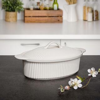 Oval Casserole With Ceramic Lid