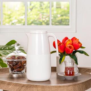 Dallaty Vacuum Flask 1 Pieces Pot White 1L