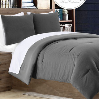 Cottage 2 Pieces Jacquard Comforter Twin Size Grey