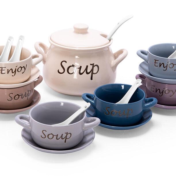 21 Pcs Porcelain Soup Tureen image number 0