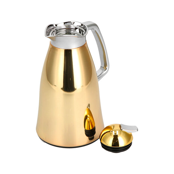 Vacuum Flask Beige And Gold 1L image number 2