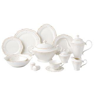 La Mesa Bone Porcelain Dinner Set 47 Pieces