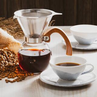 إبريق الشاي والقهوة بالضغط مع المنقط