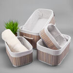 Natural Bamboo Basket Set 5 Pisces image number 5