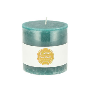 Pillar Candle Rustic Turquoise