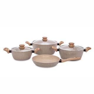 Alberto 7 Pieces Non Stick Forged Aluminum Cookware Set