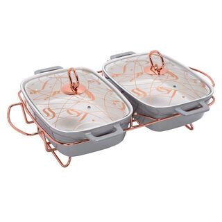 """Twin Rectangle Food Warmer Sunbuli 12"""""""