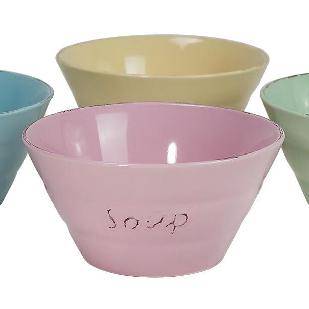 Soup Bowl Set 4Pcs Mix Colors image number 0