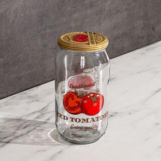 برطمان زجاج سعة 1000 مل تصميم طماطم من هيرفين