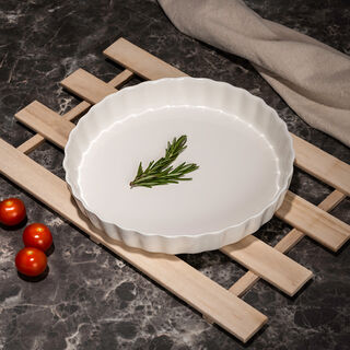La Mesa Porcelain Round Dish Oven To Tablee