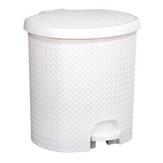 Pedal Bin Woven White 6.5L