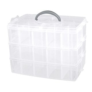 3 Layer Plastic Stack And Carry Box With Dividers