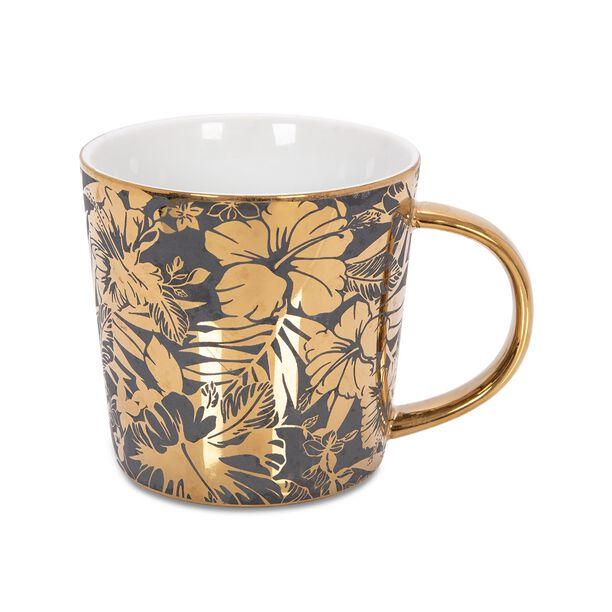 Porcelain Mug Electroplating Black/Gold 420Ml image number 0