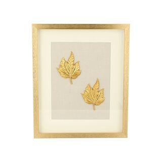 Shadow Box With Frame Golden Leaf Golden