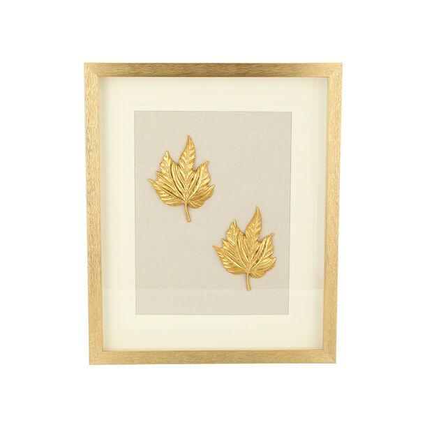 Shadow Box With Frame Golden Leaf Golden image number 0