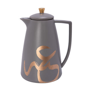 Dallety Porclain Vacuum Flask Gold Figure Grey 1L