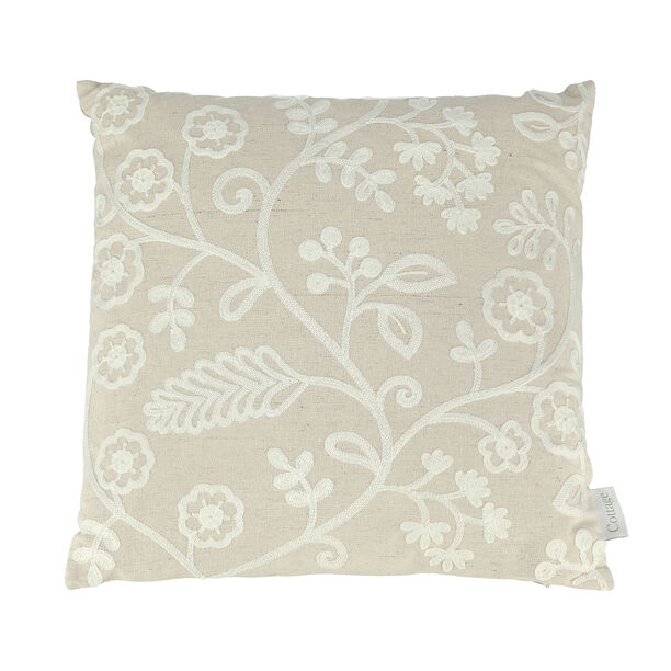 Embroidery Cushion Leaves image number 0