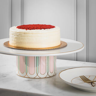Blush Footed Cake Stand